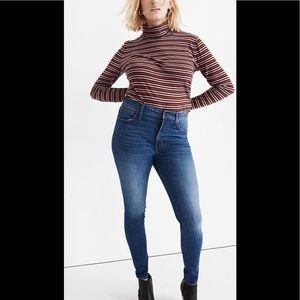 "Madewell 9"" High Rise Blue Skinny Jeans"